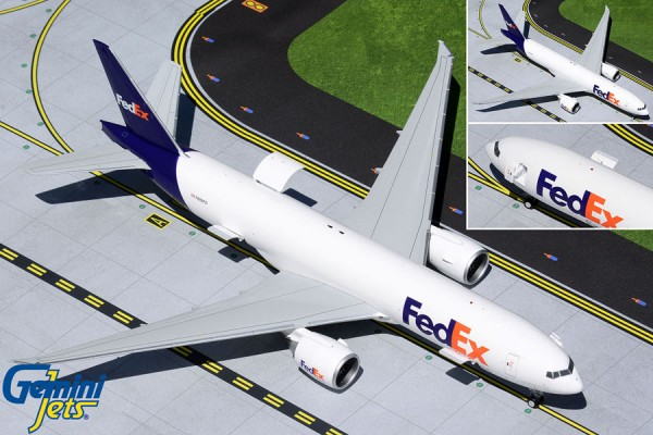 Boeing 777LRF Federal Express (FedEx) Interactive Series N888FD Scale 1/200 +++
