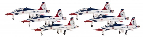 Northrop T-38A Talon Thunderbirds Air Demonstration Squadron 6 in 1 set Scale 1/200