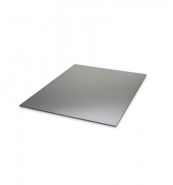 cover plate in aluminium compound material - silver