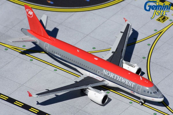 """Airbus A320 Northwest """"bowling shoe livery"""" N365NW Scale 1/400"""
