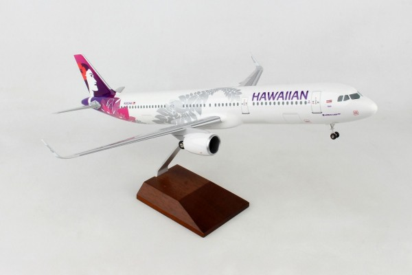 Airbus A321neo Hawaiian Airlines Scale 1/100 w/Gear