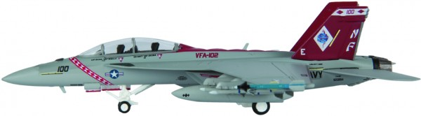 "McDonnell Douglas F/A-18F Hornet US Navy VFA-102 ""Diamondbacks"" Scale 1/200"