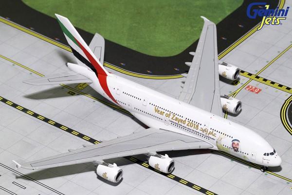 "Airbus A380-800 Emirates ""Sheik Zayed"" A6-EUZ Scale 1/400"