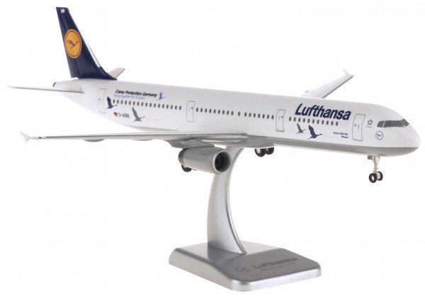 """Airbus A321 Lufthansa """"25 Jahre Kranichschutz"""" D-AIRR Scale 1:200 w/G +++"""