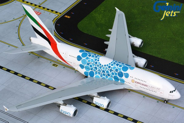 """Airbus A380-800 Emirates """"Blue Expo 2020"""" Scale 1/200"""