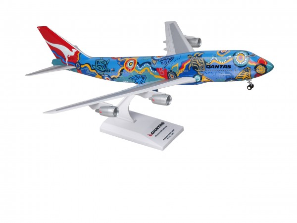 "Boeing 747-300 Qantas ""Nalanji Dreaming"" VH-EBU Scale 1/200 w/Gear"