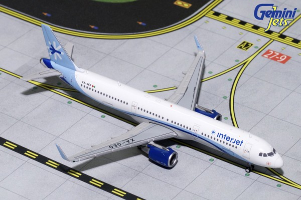 Airbus A321S Interjet Scale 1/400