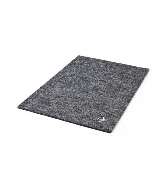 cover plate in felt dark grey
