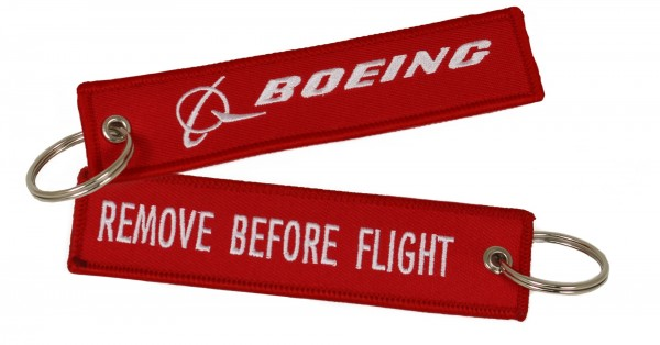 Key ring - Boeing/RBF red 120 x 30 mm