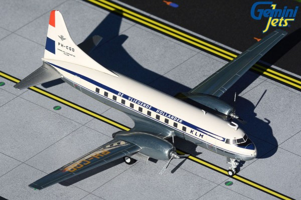"""Convair CV-340 KLM """"1950 livery, polished belly"""" PH-CGD Scale 1/200"""