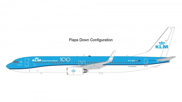 "Boeing 737-900 KLM ""KLM 100"" Flaps Down Version PH-BXP Scale 1/200"
