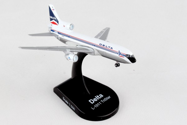POSTAGE STAMP Lockheed L-1011 TriStar Delta Vintage Livery Scale 1/500