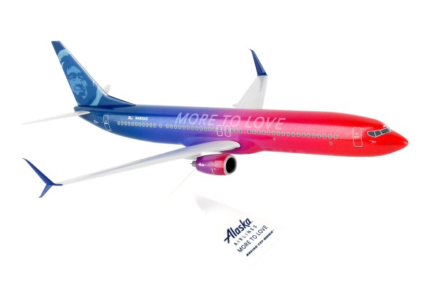 """Boeing 737-900ER Alaska Airlines """"More to Love"""" Scale 1/130"""