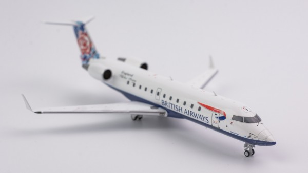 """Bombardier CRJ-200LR British Airways """"World tail - Chelsea Rose"""" Livery G-MSKN Scale 1/200"""