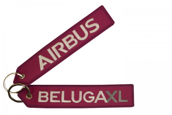 Key ring - BelugaXL purple Large size: 160 x 30 mm