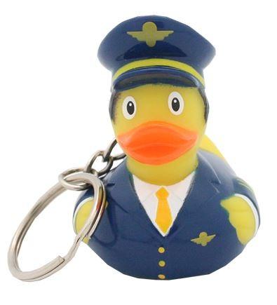 """Schlüsselanhänger Quietsche-Ente """"Pilot"""" / Rubber duck """"Pilot"""""""