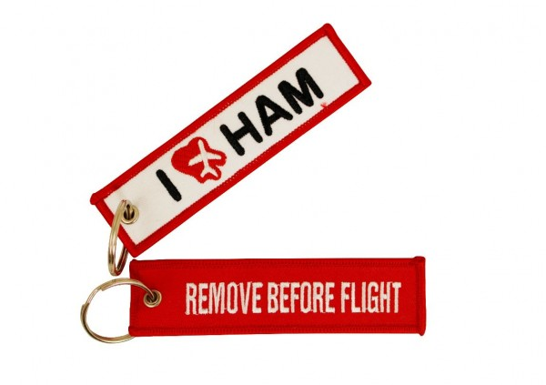 Key ring - I love HAM