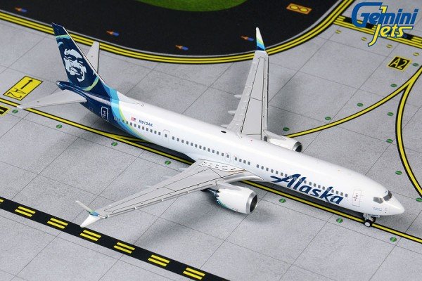 Boeing 737 MAX 9 Alaska Airlines Scale 1/400