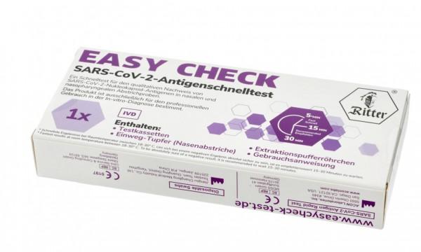 Ritter SARS-CoV-2 Covid-19 Antigen Rapid Nasaltest (Einzeltest)