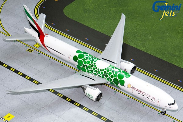 "Boeing 777-300ER Emirates ""Green Expo 2020"" A6-EPU Scale 1/200"