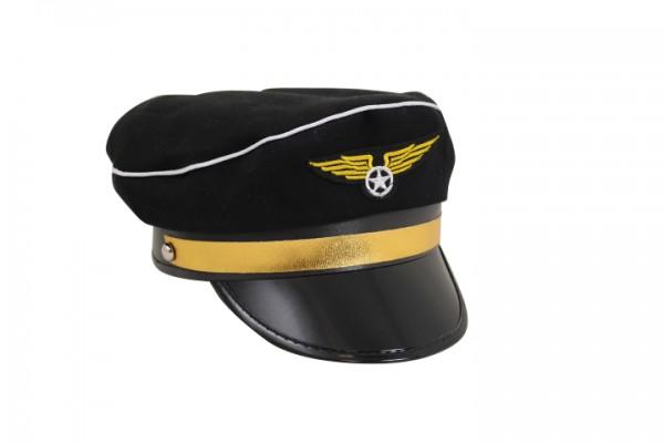 Pilotmütze schwarz / Pilot HAT black +++