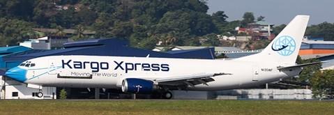 "Boeing 737-400SF Kargo Xpress ""Mask Livery"" 9M-KXA Scale 1/400"