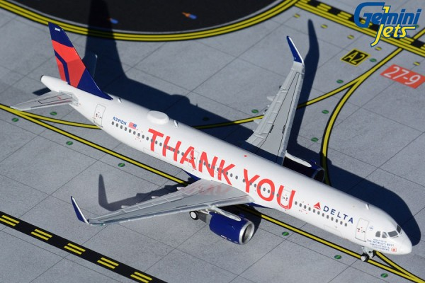 """Airbus A321 Delta Air Lines """"Thank You"""" livery Scale 1/400"""