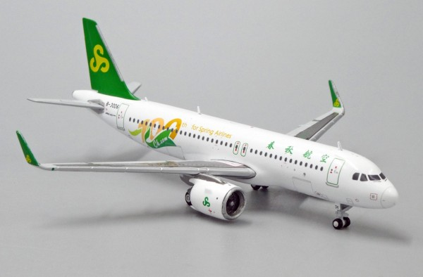 """Airbus A320neo Spring Airlines """"100th for Spring Airlines"""" B-30D6 Scale 1/400"""