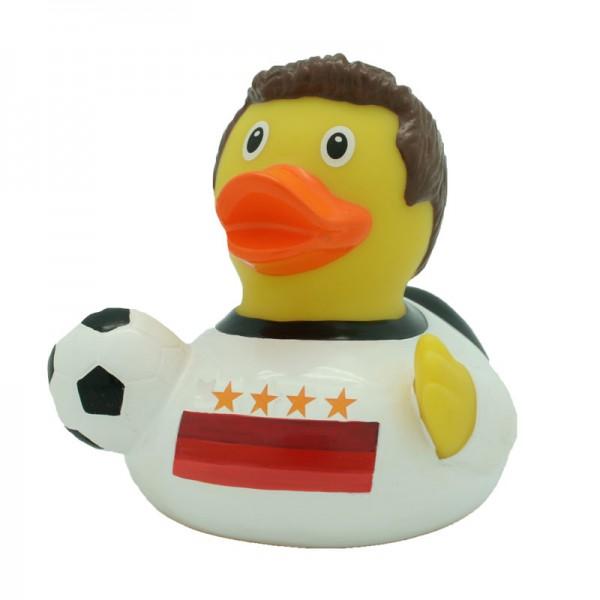 """Quietsche-Ente """"Fußballer mit 4 Sternen"""" / Rubber duck """"Soccer Player with 4 stars"""""""