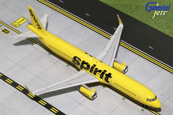Airbus A321S Spirit Airlines N668NK Scale 1/200