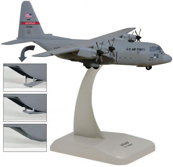 Lockheed Martin C-130H US Air Force Georgia Air National Guard with Optional ramp door Scale 1/200