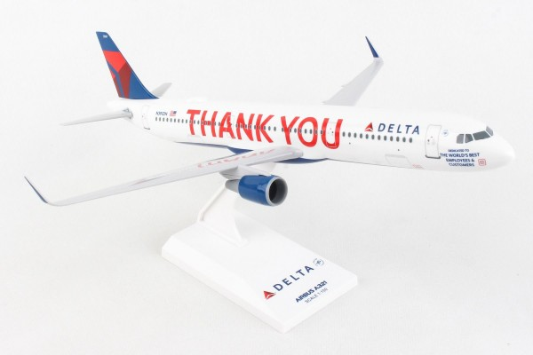 """Airbus A321 Delta Air Lines """"Thank you"""" N391DN Scale 1/150"""