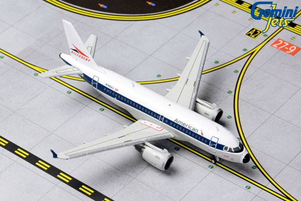 """Airbus A319 American Airlines """"Allegheny Retro"""" N745VJ Scale 1/400"""