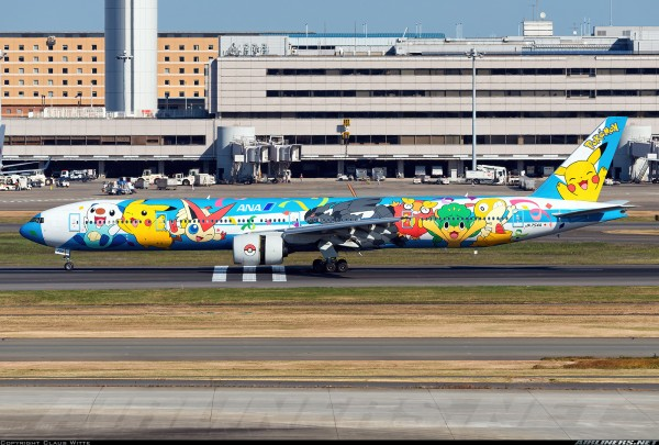 """Boeing 777-300 All Nippon Airways """"Pokemon Livery"""" Flap Down Version JA754A Scale 1/200"""