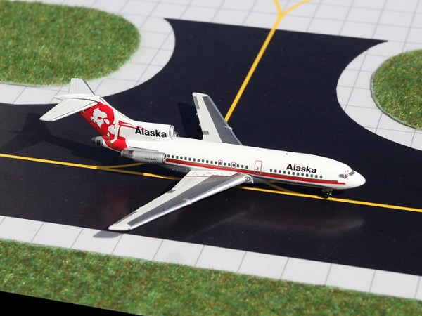 """Boeing 727-100 Alaska Airlines """"Gold Prospector"""" N314AS Scale 1/400"""