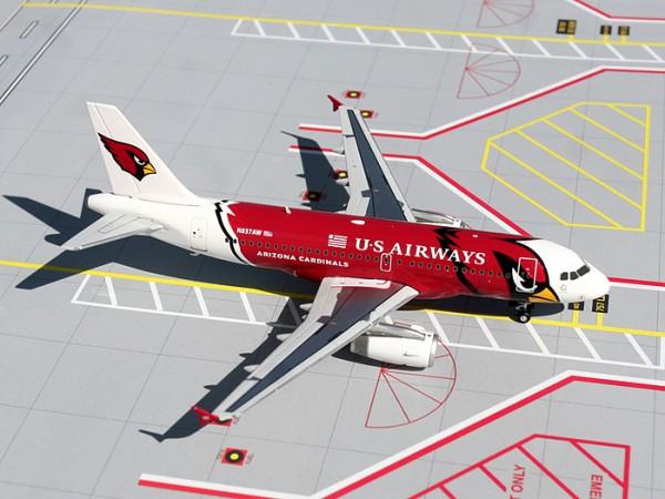 "Airbus A319 US Airways ""Arizona Cardinals"" N837AW Scale 1/200"
