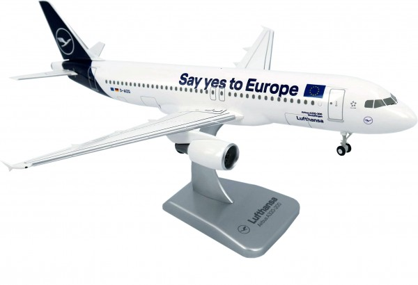 """Airbus A320-200 Lufthansa New Livery """"Say yes to Europe"""" Scale 1:200 w/G"""