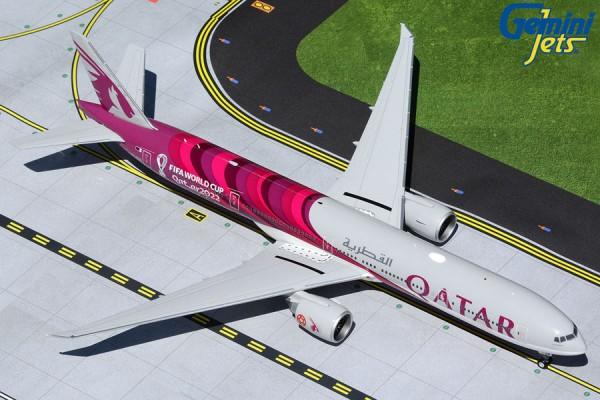 """Boeing 777-300ER Qatar Airways """"FIFA World Cup 2022"""" A7-BEB Scale 1/200"""