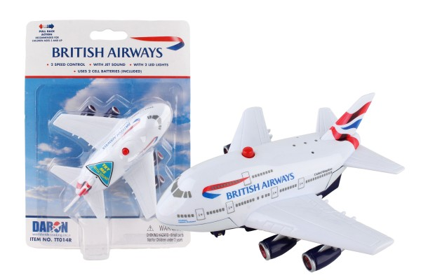 British Airways Pullback Plane w/Light & Sound