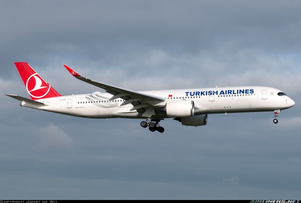 Airbus A350-900XWB Turkish Airlines Flaps Down Version TC-LGA Scale 1/400
