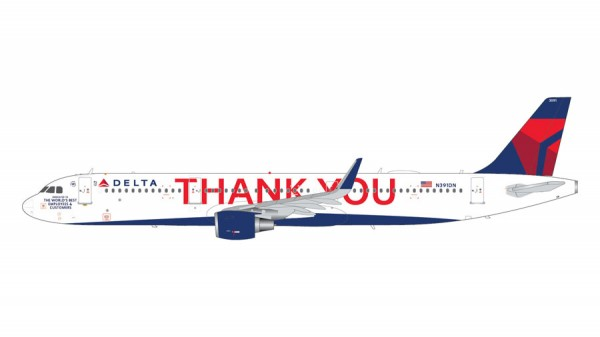 """Airbus A321-200 Delta Air Lines """"Thank you"""" Scale 1/200"""