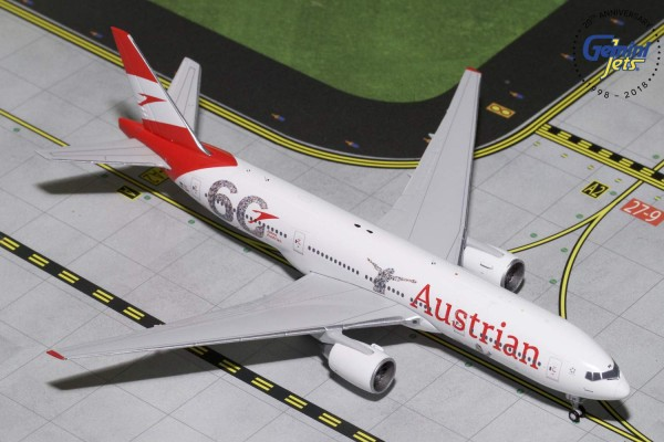 """Boeing 777-200ER Austrian Airlines """"60th Anniversary"""" OE-LPF Scale 1/400"""
