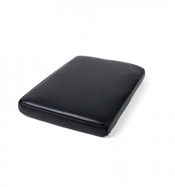 seat cushion in black leather for bordbar_box
