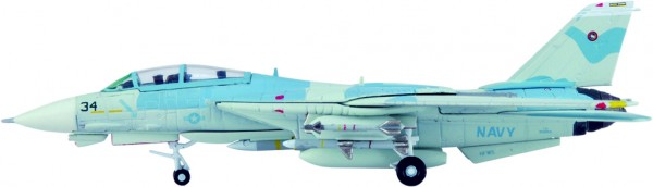 Grumman F-14A Tomcat US Navy TOPGUN 34, POWER PUFF Scale 1/200