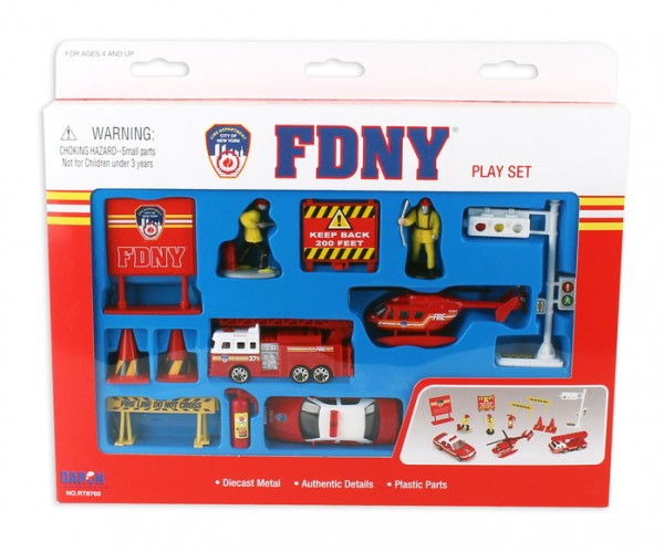FDNY 13 PIECE PLAYSET