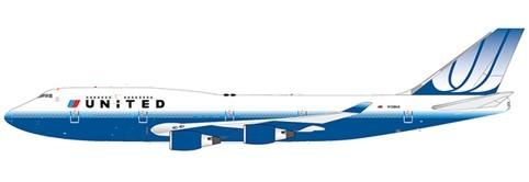 Boeing 747-400 United Airlines N128UA Scale 1/200 #
