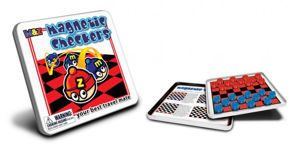 Magnetic Checkers Travel Games
