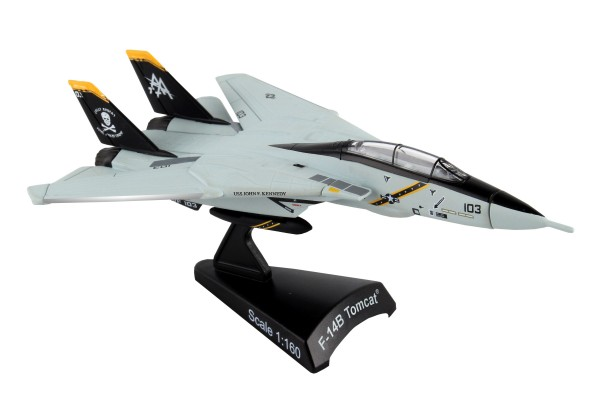 POSTAGE STAMP Grumman F-14 Tomcat VF-103 Jolly Rogers Scale 1/160
