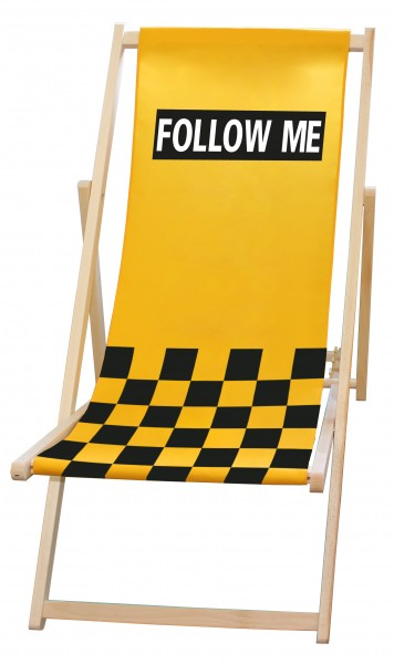 "Liegestuhl/Deck chair ""FOLLOW ME"""