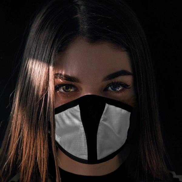 Mund- und Nasenschutz Maske silber